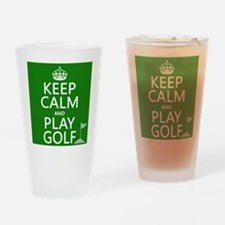 Keep Calm and Play Golf Drinking Glass
