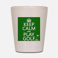 Keep Calm and Play Golf Shot Glass