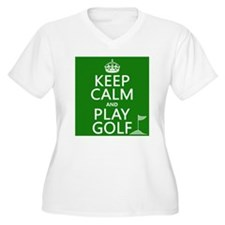 Keep Calm and Play Golf Plus Size T-Shirt