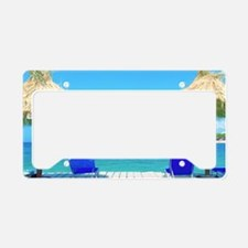 Beautiful Tropical Beach With License Plate Holder