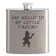 Say Hello To My Little Friend Leprechaun Flask