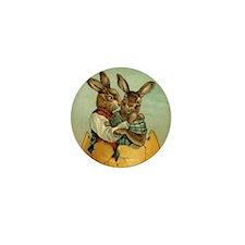 Vintage Easter Bunnies Mini Button