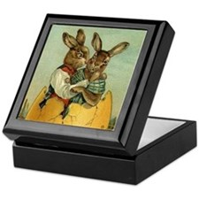 Vintage Easter Bunnies Keepsake Box