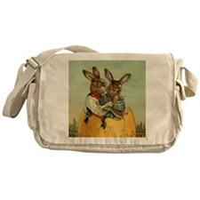 Vintage Easter Bunnies Messenger Bag