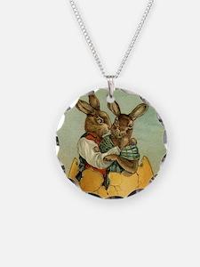 Vintage Easter Bunnies Necklace