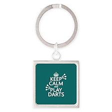 Keep Calm and Play Darts Keychains