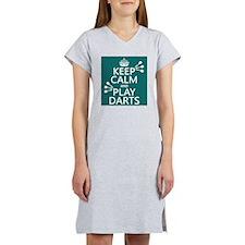 Keep Calm and Play Darts Women's Nightshirt