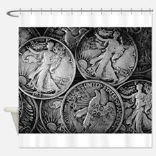 Walking Liberty Coins Shower Curtain