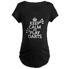 Keep Calm and Play Darts Maternity T-Shirt