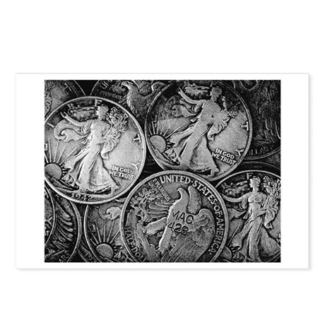 Walking Liberty Coins Postcards (Package of 8)