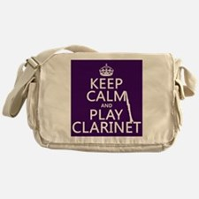 Keep Calm and Play Clarinet Messenger Bag