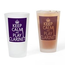 Keep Calm and Play Clarinet Drinking Glass