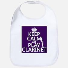 Keep Calm and Play Clarinet Bib