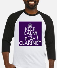 Keep Calm and Play Clarinet Baseball Jersey