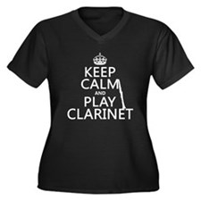 Keep Calm and Play Clarinet Plus Size T-Shirt