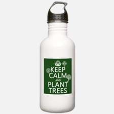 Keep Calm and Plant Trees Sports Water Bottle