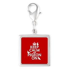 Keep Calm and Pigeon On Charms