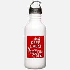 Keep Calm and Pigeon On Sports Water Bottle