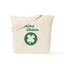 Lucky Charm, 4 leaf clover, vintage Tote Bag