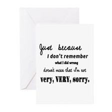 Forgotten Apology Greeting Cards