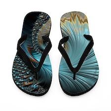Aqua - Unique Fractal Flip Flops