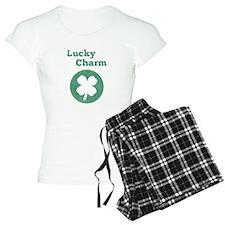 Lucky Charm, 4 leaf clover, vintage Pajamas