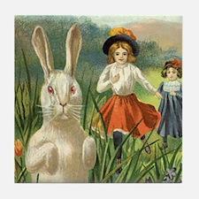 Vintage Easter Bunny Tile Coaster