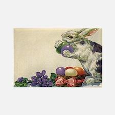 Vintage Easter Bunny Rectangle Magnet