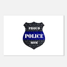 Proud Police Mom Postcards (Package of 8)