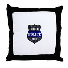 Proud Police Mom Throw Pillow
