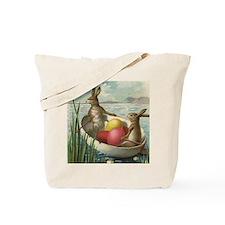 Vintage Easter Bunnies Tote Bag