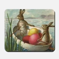 Vintage Easter Bunnies Mousepad