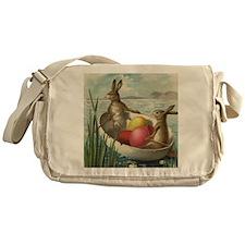 Vintage Easter Bunnies Messenger Bag