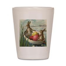 Vintage Easter Bunnies Shot Glass