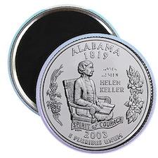 Alabama State Quarter Magnet