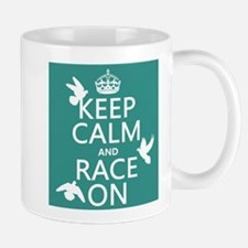 Keep Calm and Race On Mugs