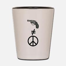 Guns and Peace Shot Glass