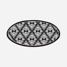 White on Black Damask 29a Patches