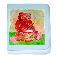 Bear Drummer baby blanket