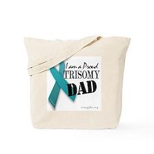PROUD teal TRISOMY DAD Tote Bag