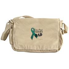 PROUD teal TRISOMY DAD Messenger Bag
