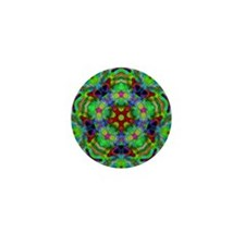 Psychedelic Green Energy Mini Button