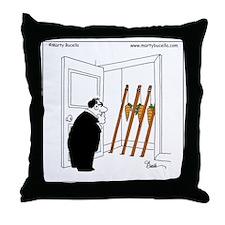 Carrots on sticks Throw Pillow