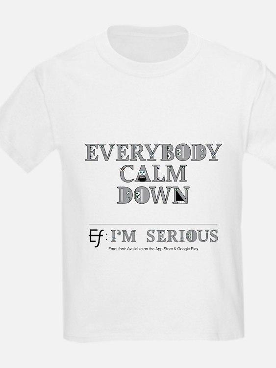 Emotifont I'm Serious T-Shirt