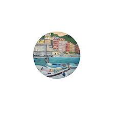 Vernazza Harbor, Italy Mini Button