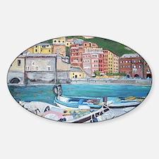 Vernazza Harbor, Italy Sticker (Oval)