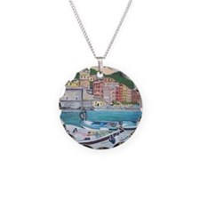Vernazza Harbor, Italy Necklace