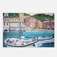 Vernazza Harbor, Italy Postcards (Package of 8)