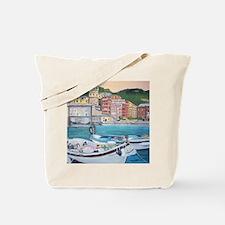 Vernazza Harbor, Italy Tote Bag