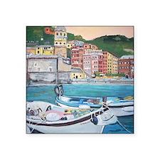 """Vernazza Harbor, Italy Square Sticker 3"""" x 3"""""""